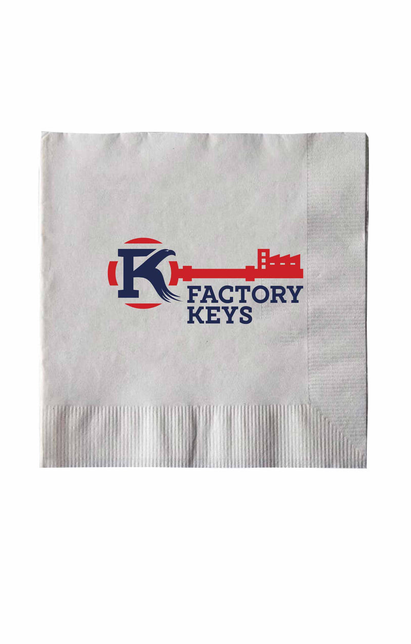 Customizable Beverage Napkin 2 Ply | 10x10 | 3,000 per Case