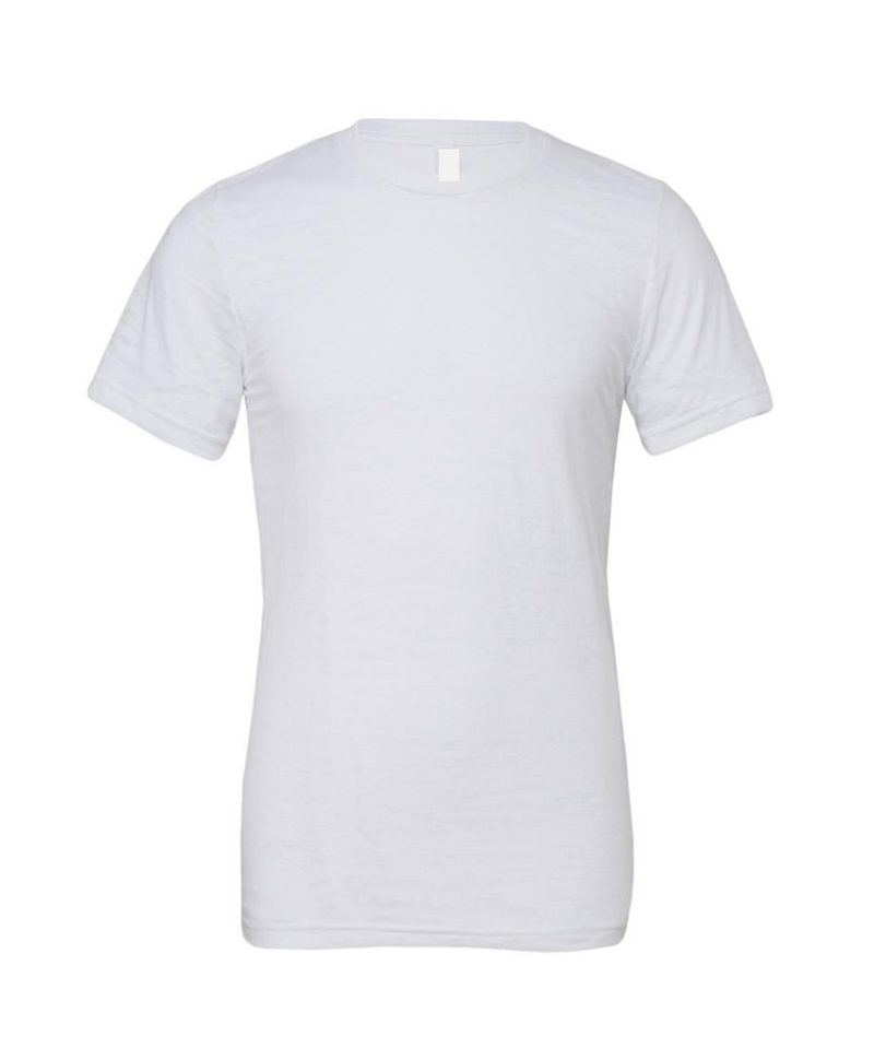 MEN'S BURNOUT SHORT SLEEVE TEE-WHITE