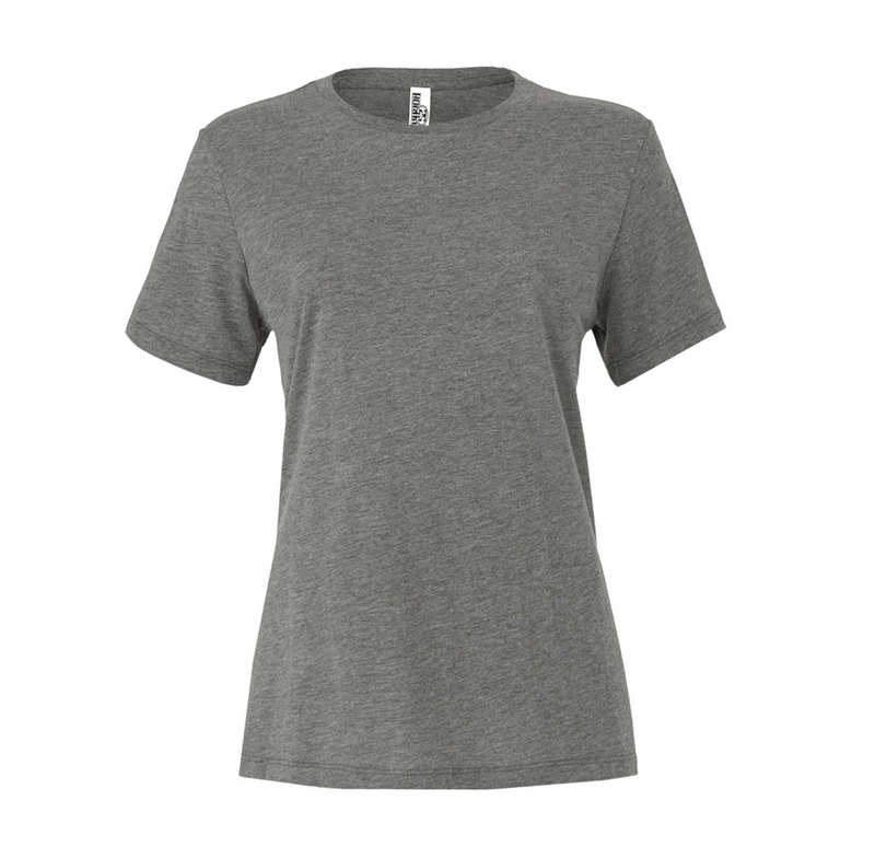 WOMEN'S RELAXED TRIBLEND SHORT SLEEVE TEE - Grey Triblend