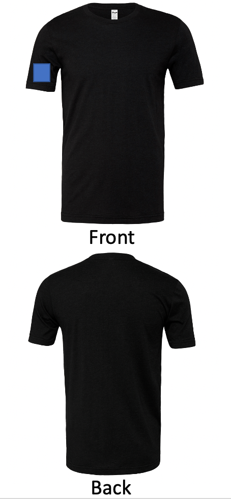 + $2 DTG: No Front, No Back, No Left Sleeve, Right Sleeve