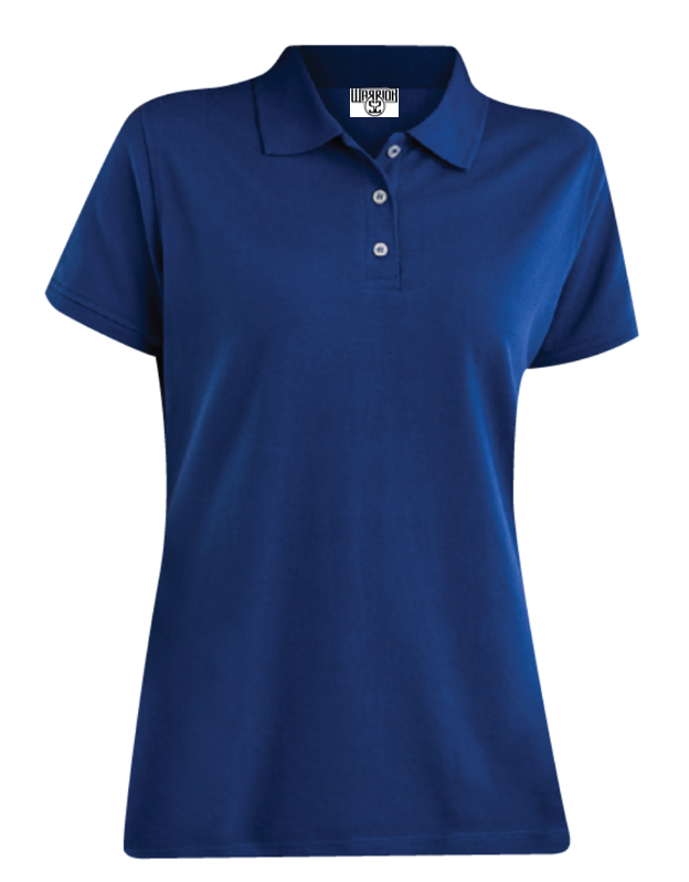 Womens Polo-Royal Blue