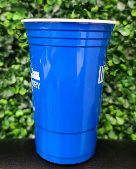 Customizable Hero Cup 16oz  | 500/Case| 2 Logos | 1 Color - Blue Cup