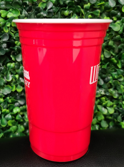 Customizable Hero Cup 16oz  | 500/Case| 2 Logo | 1 ink Color - Red Cup
