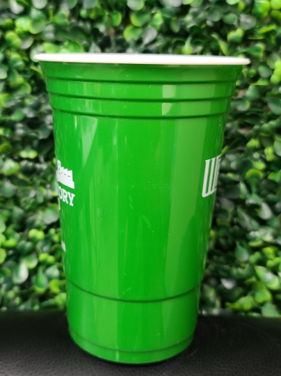 Customizable Hero Cup 16oz  | 500/Case| 2 Logos | 1 Ink Color - Green Cup