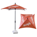 Premium 2x2m umbrella, bantec fabric, digital printing