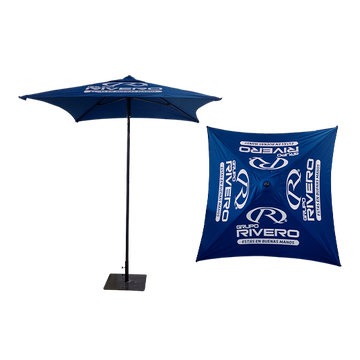 Premium 2x2m umbrella, olefin fabric, silkscreen printing