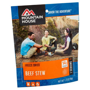 Mountain House Beef Stew - 2 Servings Per Pouch