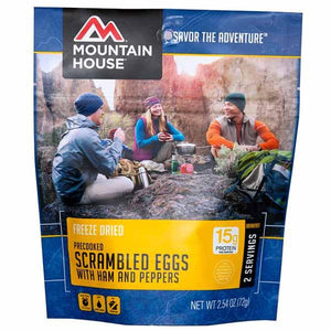 Mountain House Scrambled Eggs with Ham, Red & Peppers - 2 Servings Per Pouch
