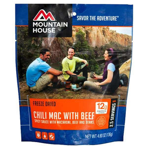 Mountain House Chili Mac with Beef - 2 Servings Per Pouch