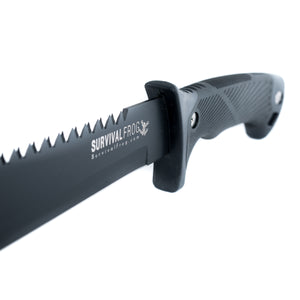 ESSENTIAL TACT MACHETE KNIFE - FULL TANG BLADE - 15 IN. DUAL-SIDED