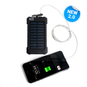 EasyPower Solar Power Bank - 6,000 mAh Dual USB Ports