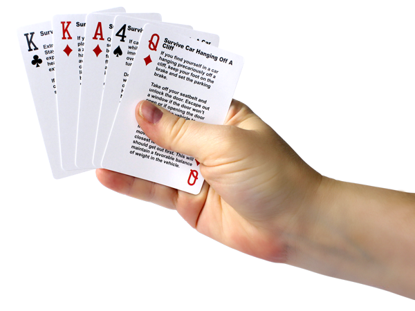 Survival Tips Playing Cards