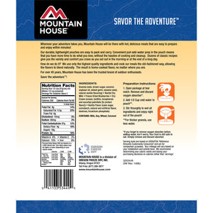 Mountain House Granola with Milk & Blueberries - 2 Servings Per Pouch