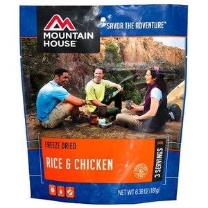 Mountain House Rice & Chicken - 3 Servings Per Pouch