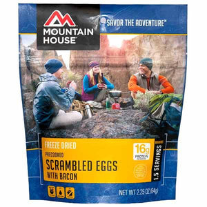 Mountain House Scrambled Eggs with Bacon - 1.5 Servings Per Pouch