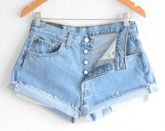 nell and pop reclaimed vintage festival party denim shorts