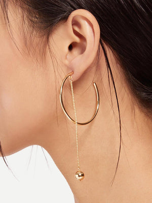 Chain Drop Hoops-Women's Accessories-Nell & Pop-Nell and Pop