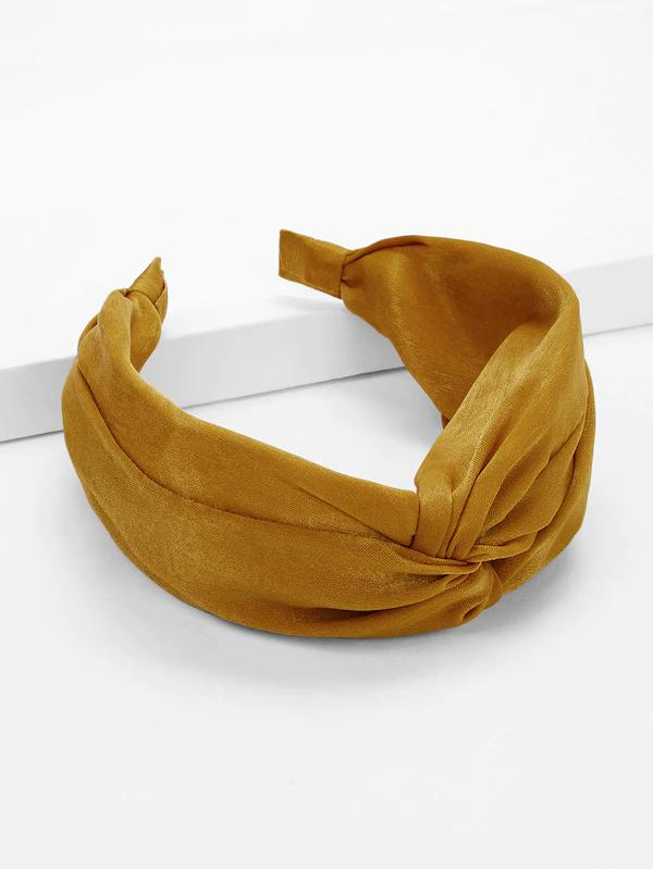 suede mustard yellow womens headband nell and pop festival summer pattern band top