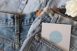 nell and pop reclaimed vintage festival party denim shorts logo