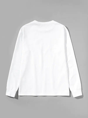 Rue De Jesus Men's Round Neck Cotton Jumper White Nell And Pop back