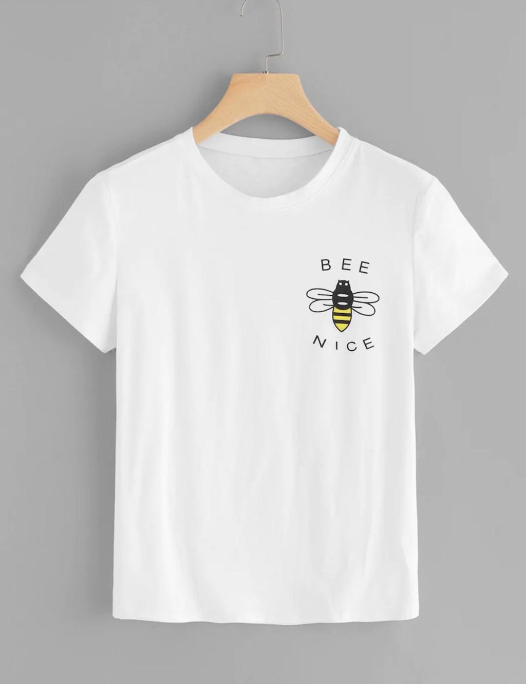 bee nice logo womens summer tee tshirt nell and pop front
