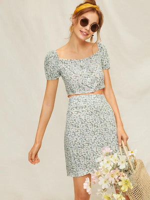 Calico Co-ord-All Women's-Nell and Pop-Nell and Pop summer light clothing