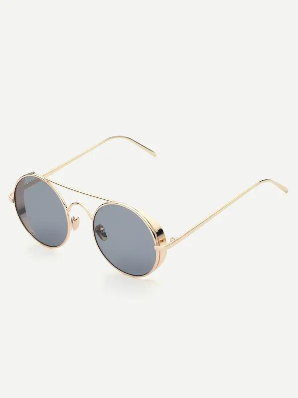 Cyclone Top-Bar Circular Round Sunglasses Men's NELL AND POP shades mens front
