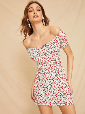 Ditsy Belle All Women's Nell and Pop summer dress party fun casual dress front
