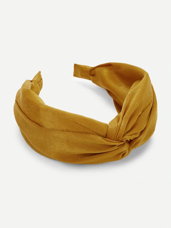 suede mustard yellow womens headband nell and pop festival summer pattern band wrap
