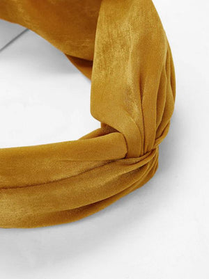 suede mustard yellow womens headband nell and pop festival summer pattern band tie