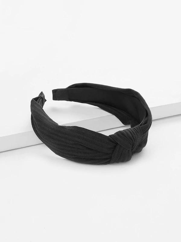 Black Knot Band Women's Accessories Nell and Pop headband front