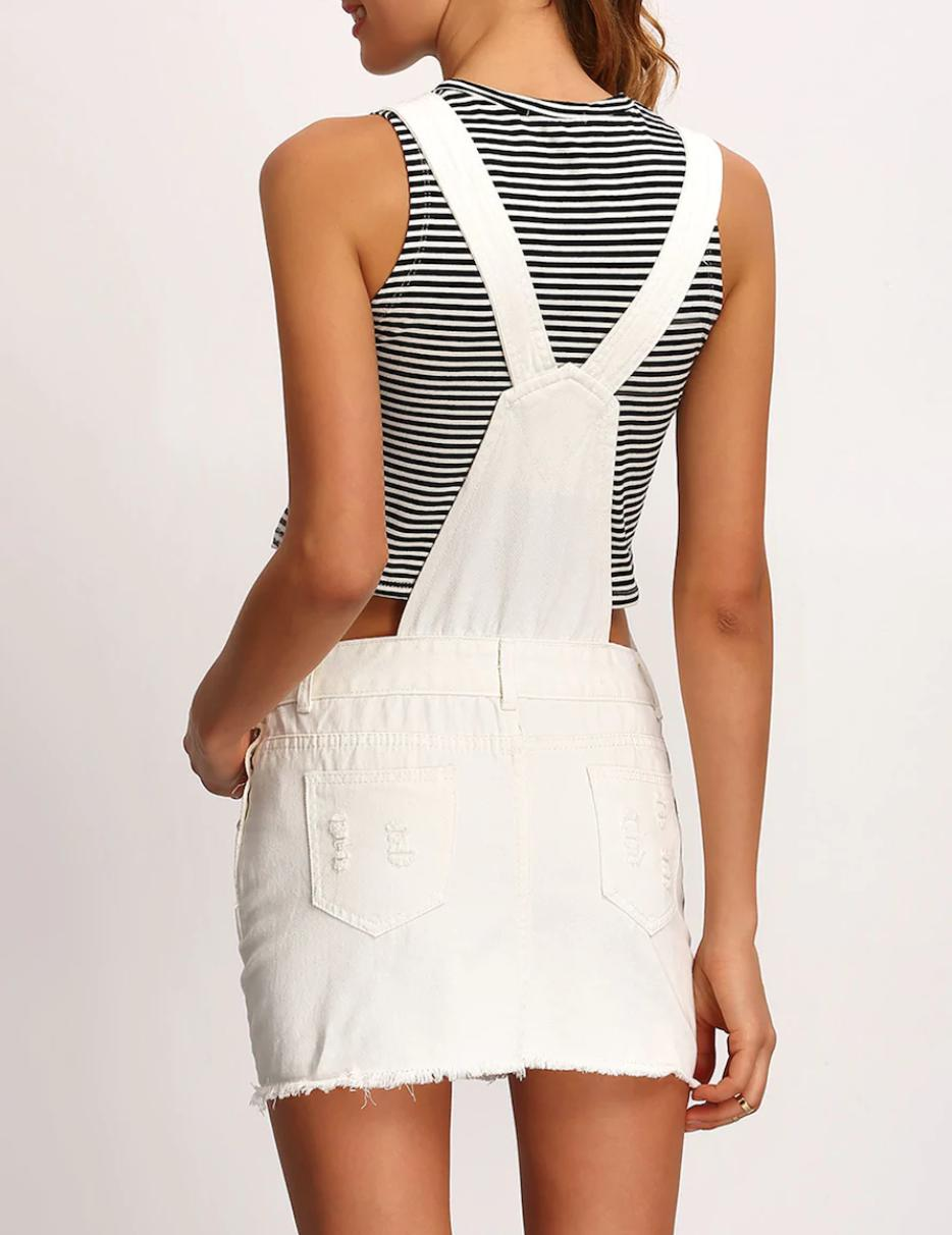 White dungarees buy womens nell and pop denim fashion summer back