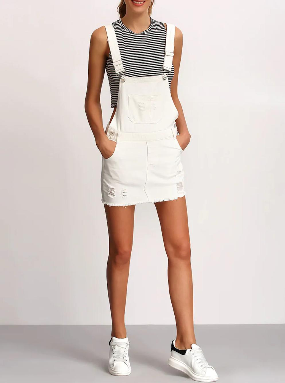 White dungarees buy womens nell and pop denim fashion summer image
