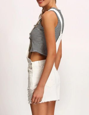 White dungarees buy womens nell and pop denim fashion summer side