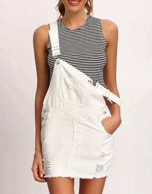 White dungarees buy womens nell and pop denim fashion summer shoulder