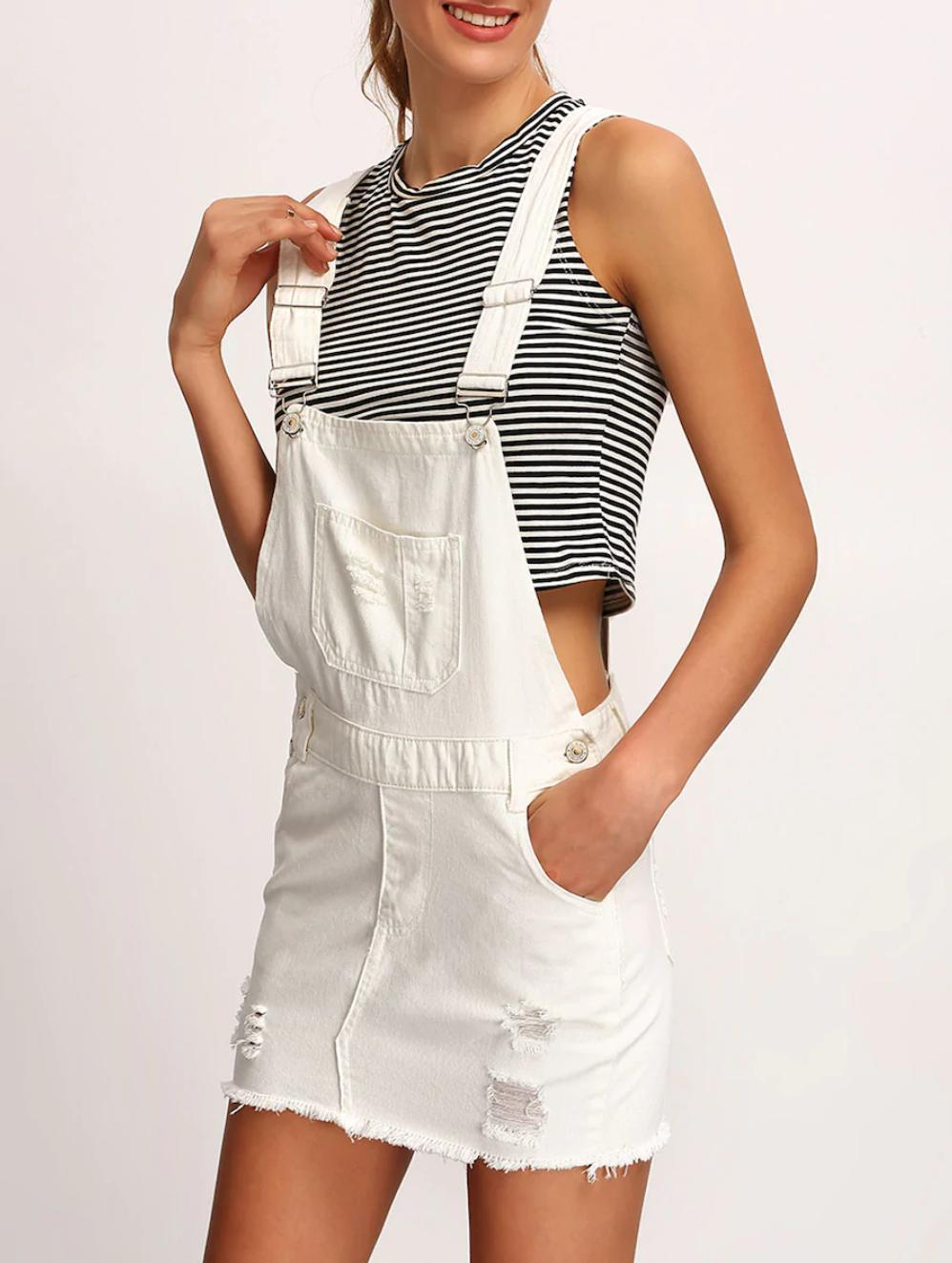White dungarees buy womens nell and pop denim fashion summer front
