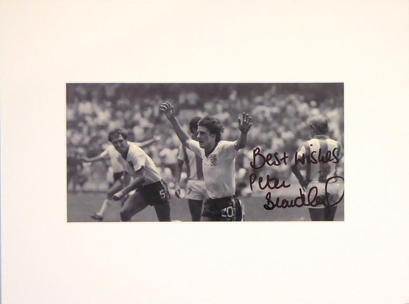 Peter Beardsley Signed Mount Display