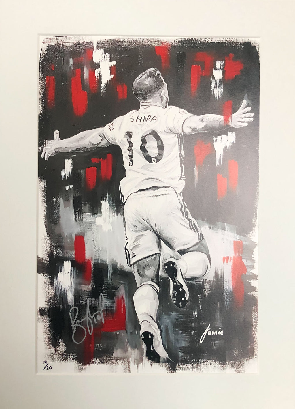 Billy Sharp (Sheffield United) Limited Edition Print Signed 01 - 20 Display