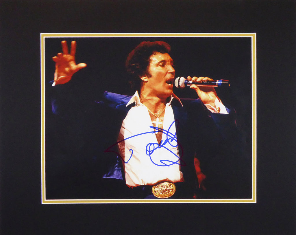 Tom Jones Signed Mount Display