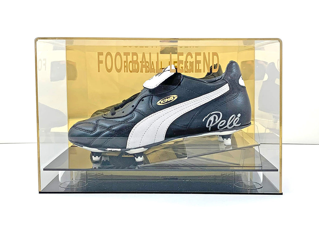 Pele Signed Boot w/Display Case