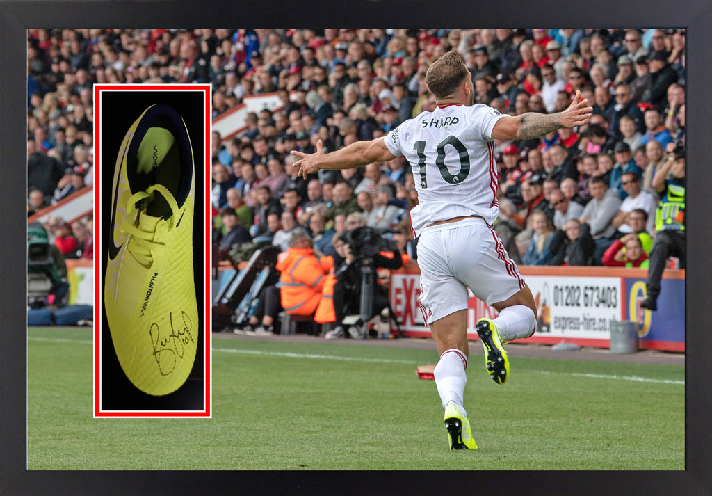 Billy Sharp (Sheffield United) Signed Framed Boot Display
