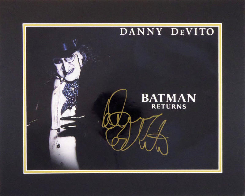 Batman Returns - Danny Devito (The Penguin) Signed Mount Display