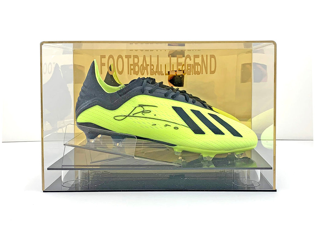 Lionel Messi Signed Boot w/Display Case