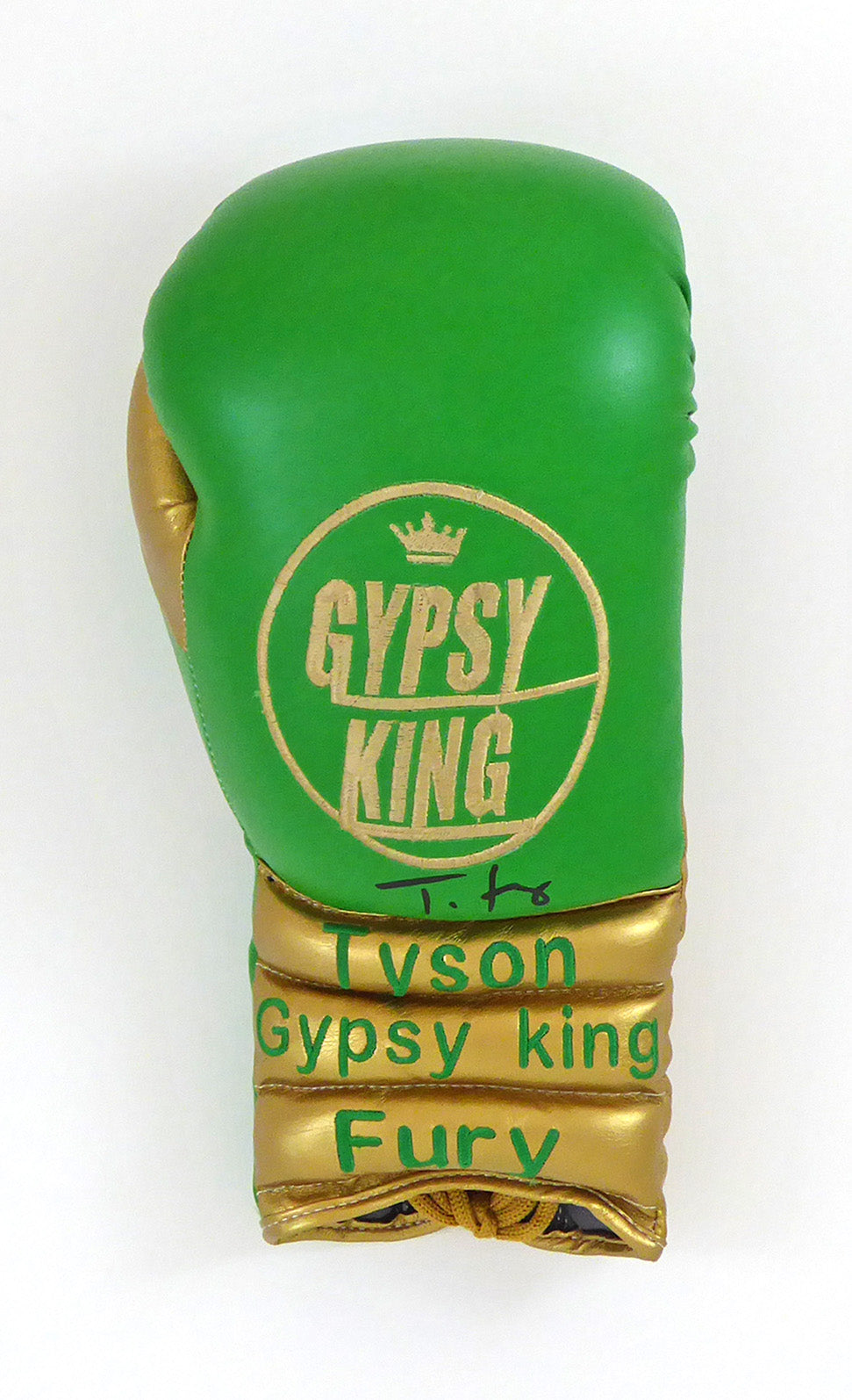 Tyson Fury Signed Green Glove w/ Display Case