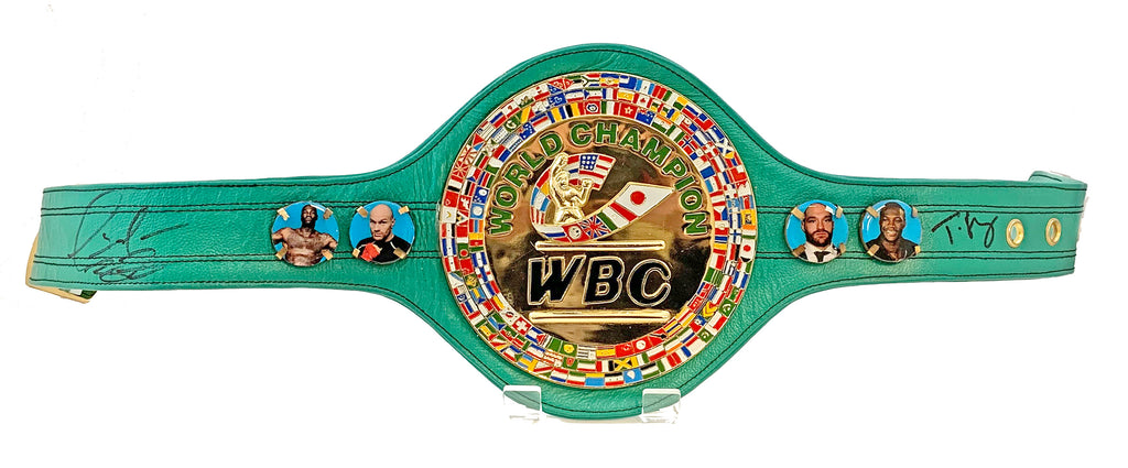 Tyson Fury & Deontay Wilder Duel Signed WBC Belt