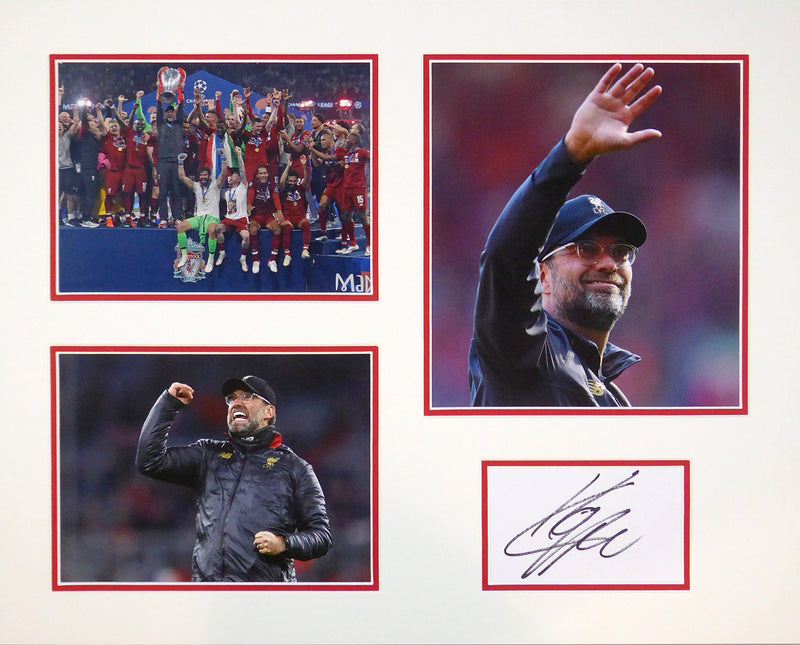 Jurgen Klopp Signed Mount Display