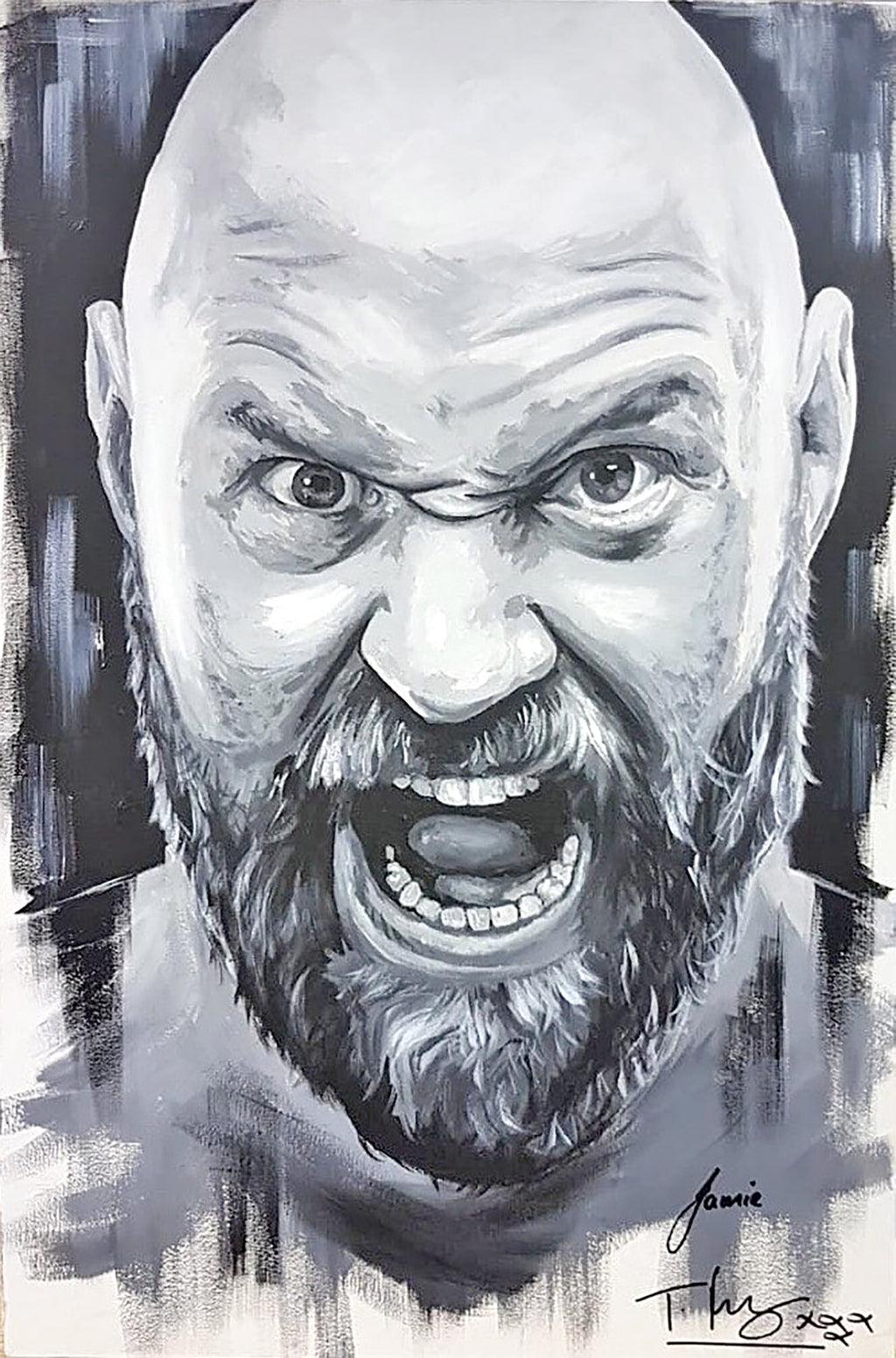 Tyson Fury Original Canvas (Signed by Tyson Fury)