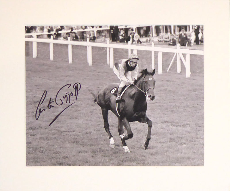 Lester Piggott Signed Mount Display 1