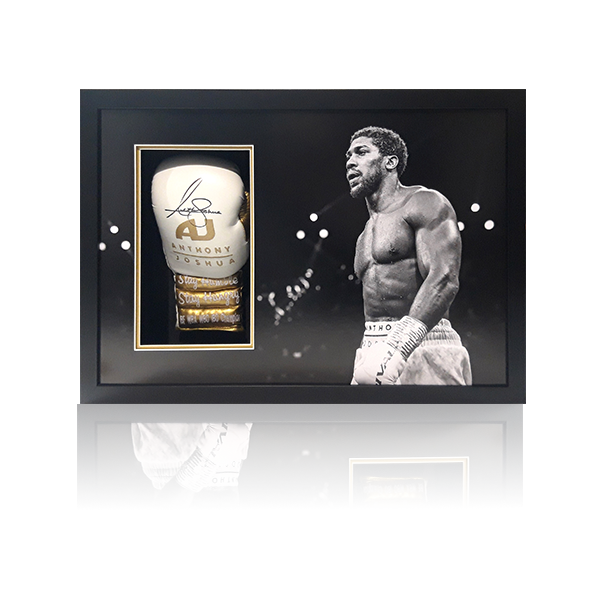 Anthony Joshua Signed Framed Glove Display