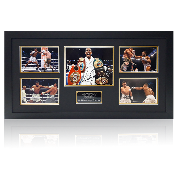 Anthony Joshua Signed Photo Display